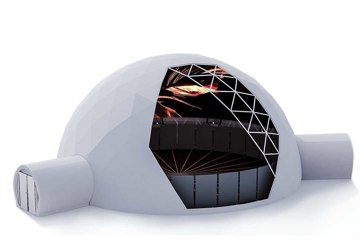 Geodesic tents - projection