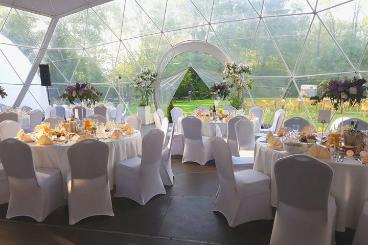 Interior large wedding tent for rent