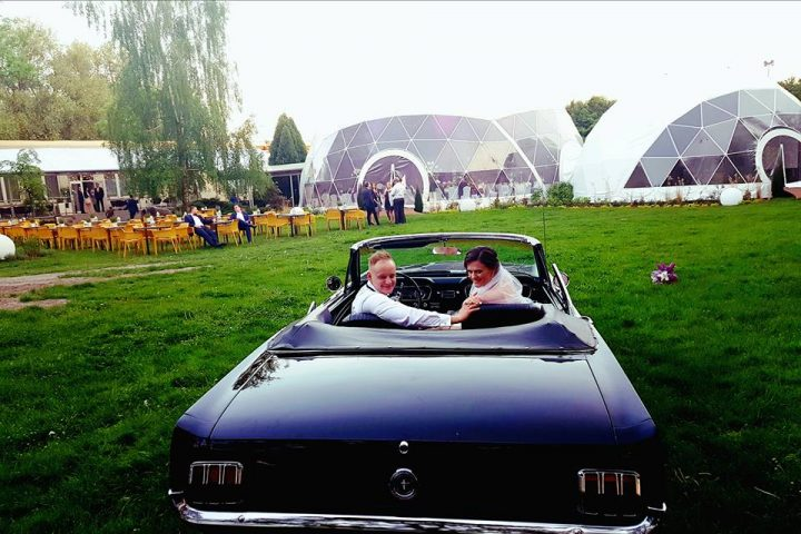 large geodesic wedding tent