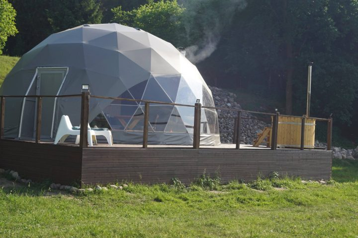 Glamping tent for resort