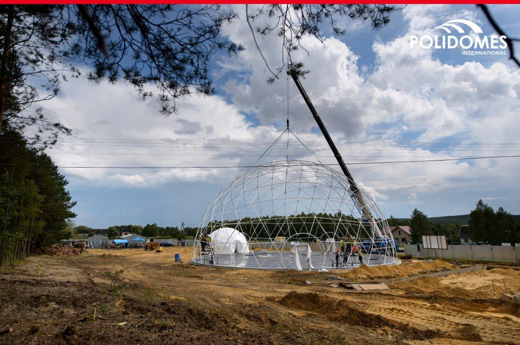 POLIDOME500-crane-setup