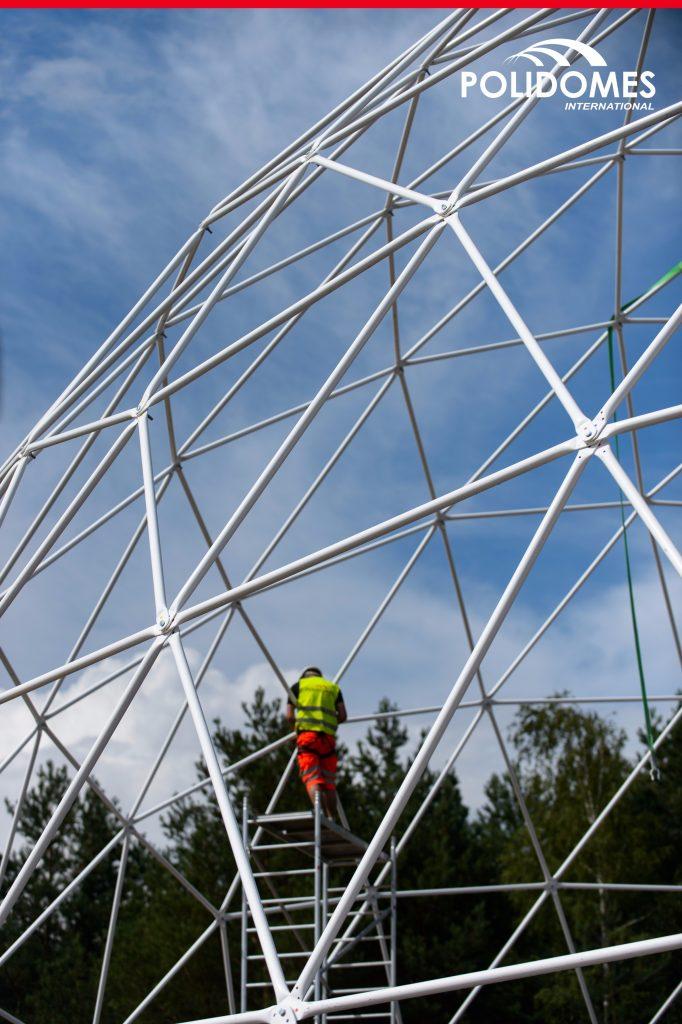 POLIDOMES-scaffolding-setup