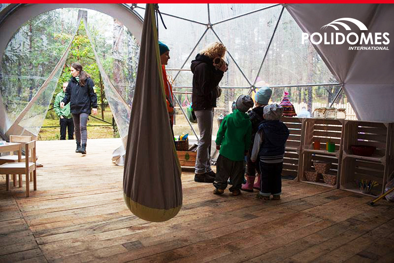 forest-preschool-inside-geodesic-dome-tent