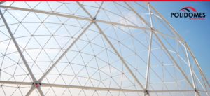 The transparent Polidomes geodesic dome tent for corporate events
