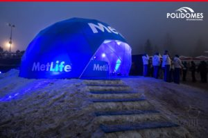 The Polidomes geodesic dome tent for corporate event