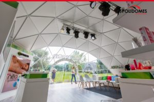 polidomes geodesic dome tent for corporate event